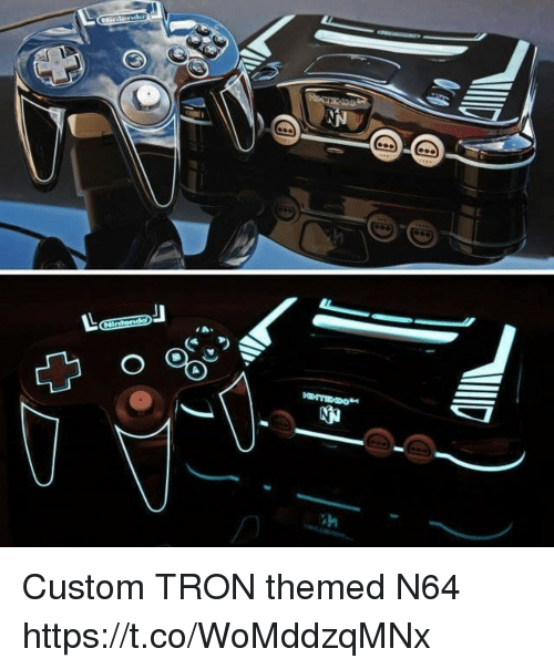 n64: Custom TRON themed N64 https://t.co/WoMddzqMNx