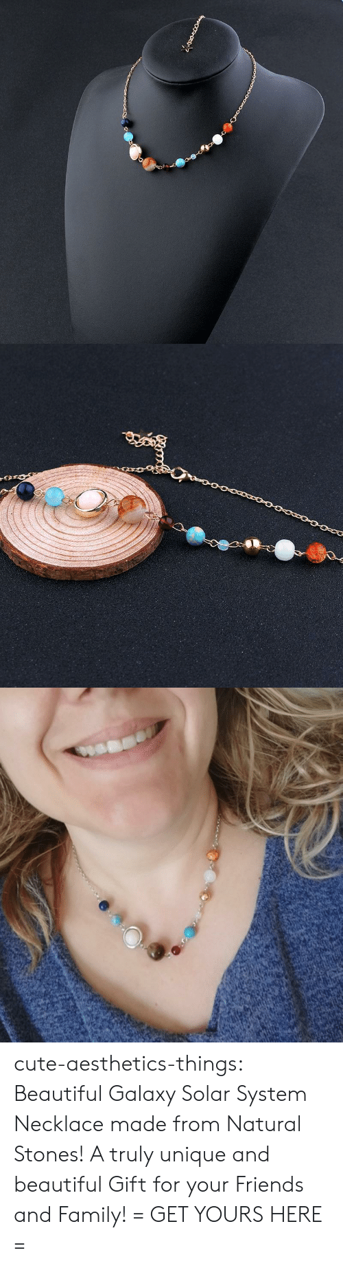 Beautiful, Cute, and Family: cute-aesthetics-things: Beautiful Galaxy Solar System Necklace made from Natural Stones! A truly unique and beautiful Gift for your Friends and Family! = GET YOURS HERE =
