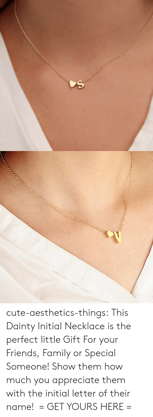 Cute, Family, and Friends: cute-aesthetics-things: This Dainty Initial Necklace is the perfect little Gift For your Friends, Family or Special Someone! Show them how much you appreciate them with the initial letter of their name!  = GET YOURS HERE =