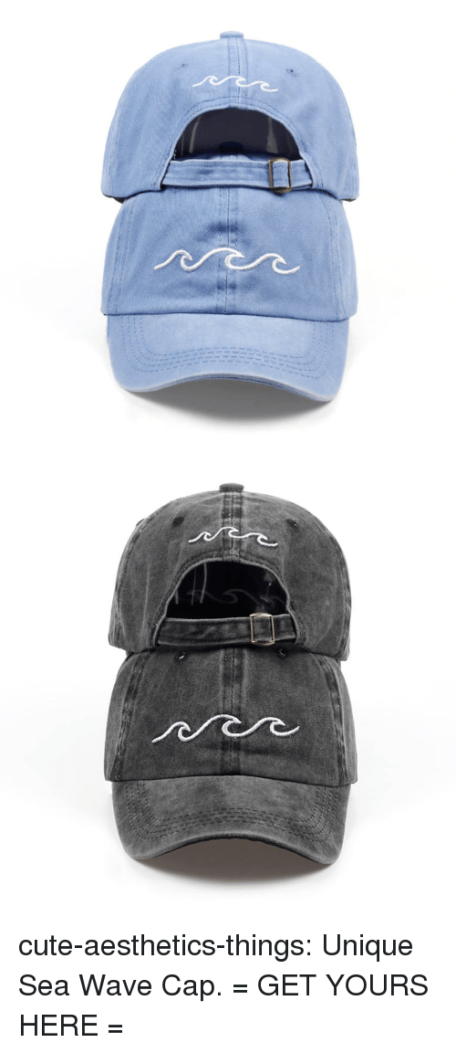 Cute, Target, and Tumblr: cute-aesthetics-things:  Unique Sea Wave Cap.= GET YOURS HERE =