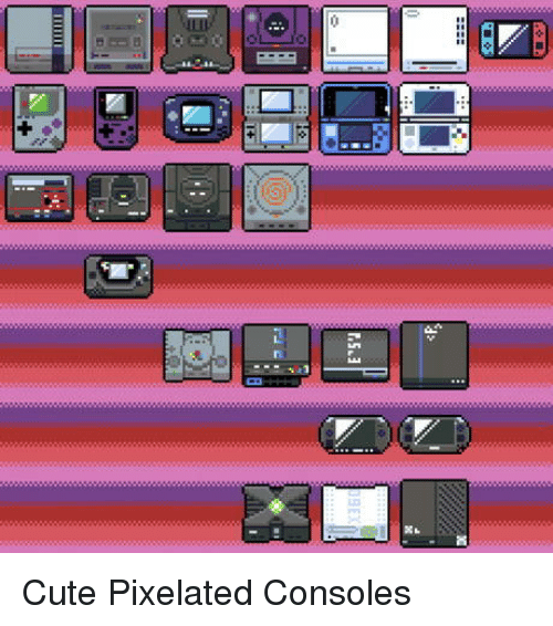 Pixelated: Cute Pixelated Consoles