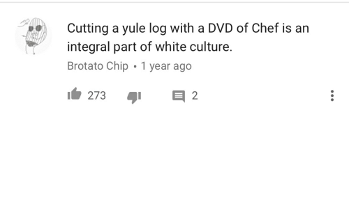 Cutting A Yule Log With A Dvd Of Chef Is An Integral Part Of White