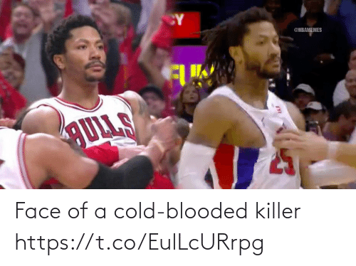 killer: CY  @NBAMEMES  AULLS Face of a cold-blooded killer https://t.co/EulLcURrpg