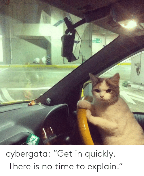 """Be Late: cybergata:  """"Get in quickly. There is no time to explain."""""""