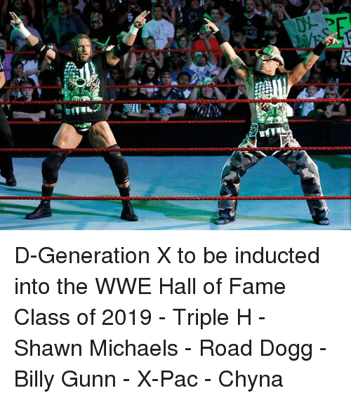 World Wrestling Entertainment, Triple H, and Billy Gunn: D-Generation X to be inducted into the WWE Hall of Fame Class of 2019  - Triple H - Shawn Michaels - Road Dogg - Billy Gunn - X-Pac - Chyna