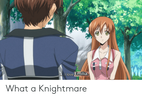Anime, Love, and What: D. I love Emilia. What a Knightmare