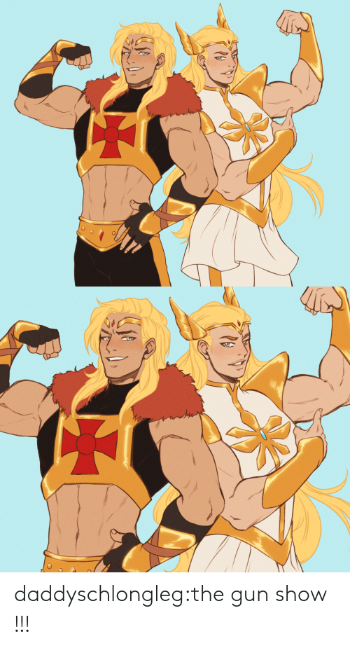 tumblr: daddyschlongleg:the gun show !!!