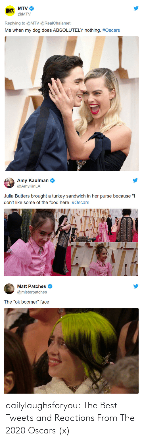 Tweets: dailylaughsforyou:  The Best Tweets and Reactions From The 2020 Oscars (x)