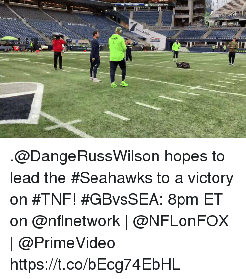 Memes, Seahawks, and 🤖: .@DangeRussWilson hopes to lead the #Seahawks to a victory on #TNF!  #GBvsSEA: 8pm ET on @nflnetwork | @NFLonFOX | @PrimeVideo https://t.co/bEcg74EbHL