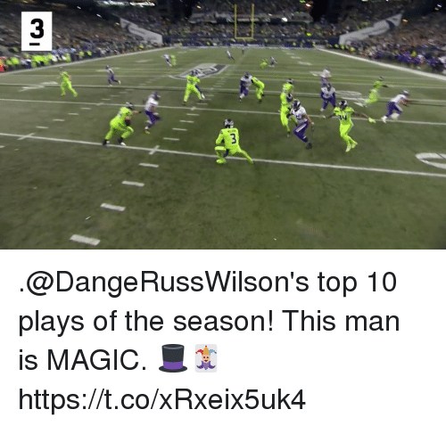 Memes, Magic, and 🤖: .@DangeRussWilson's top 10 plays of the season!  This man is MAGIC. 🎩🃏 https://t.co/xRxeix5uk4