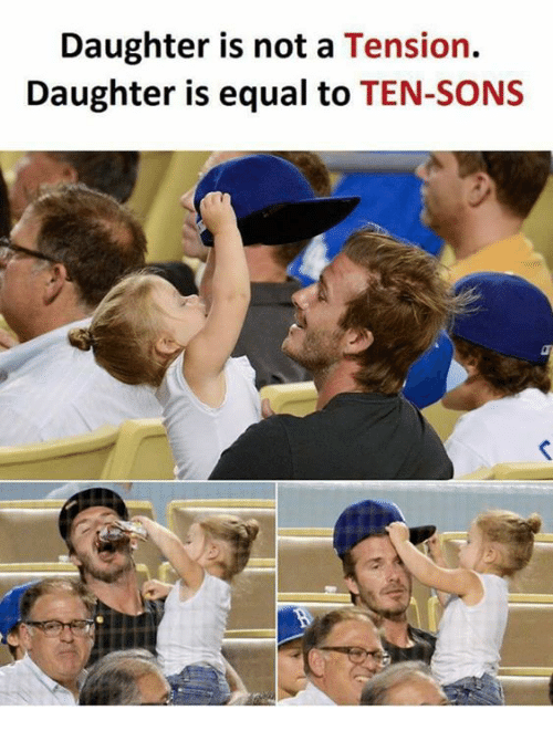 Equalism: Daughter is not a Tension.  Daughter is equal to TEN-SONS