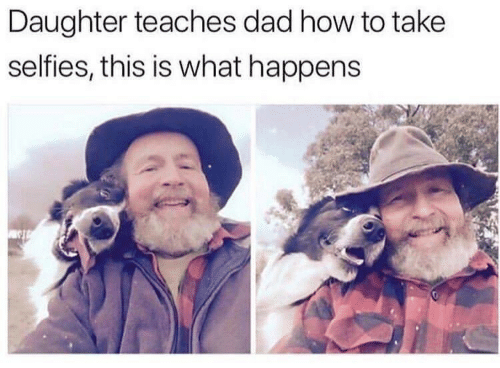 Dad, How To, and How: Daughter teaches dad how to take  selfies, this is what happens