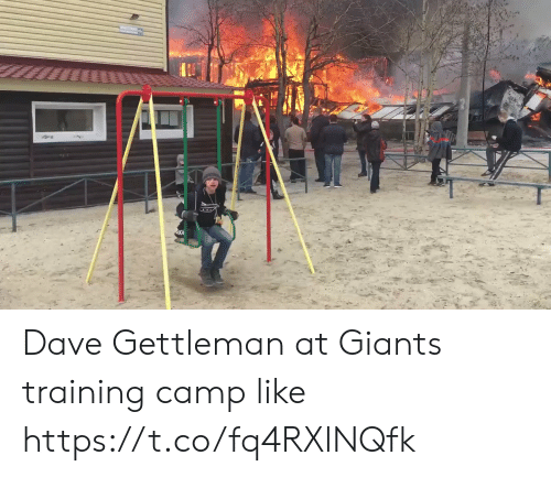 Football, Nfl, and Sports: Dave Gettleman at Giants training camp like https://t.co/fq4RXlNQfk