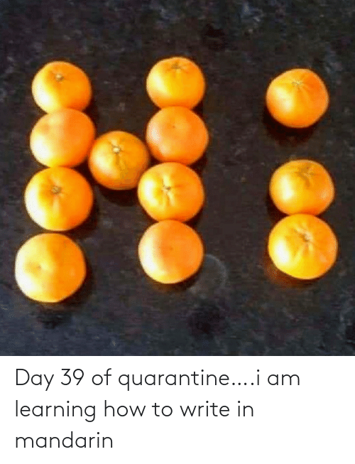 Learning: Day 39 of quarantine….i am learning how to write in mandarin