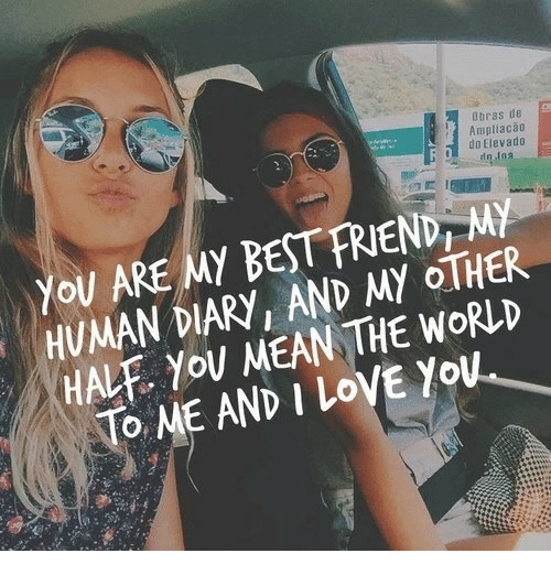 Best Friend, Love, and I Love You: Dbras de  Ampliaca0  do Elevado  You ARE MY BEST FRIEND, MY  HUMAN DIARY, AND MY OTHER  HALF. YoU MEAN THE WORLD  To ME AND I LoVE You
