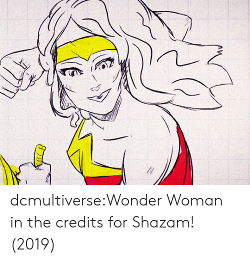 Shazam, Target, and Tumblr: dcmultiverse:Wonder Woman in the credits for Shazam! (2019)
