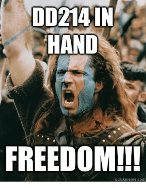 Military, Freedom, and Com: DD214 IN  HAND  FREEDOM!!!  quickmeme.com
