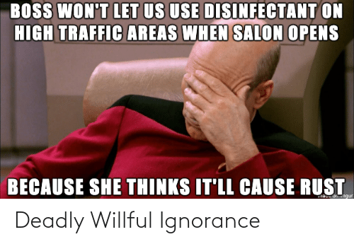 Ignorance: Deadly Willful Ignorance