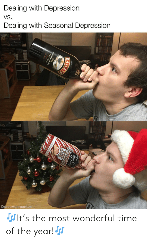 Depression, Time, and Cream: Dealing with Depression  VS.  Dealing with Seasonal Depression  WER  DracoAdamantus  PEPPERMINT  BARX  ILEYS  ORIGINAL  Frish Cream 🎶It's the most wonderful time of the year!🎶