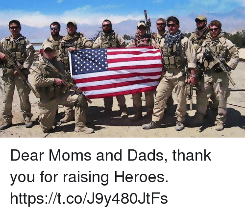 Memes, Moms, and Thank You: Dear Moms and Dads, thank you for raising Heroes. https://t.co/J9y480JtFs