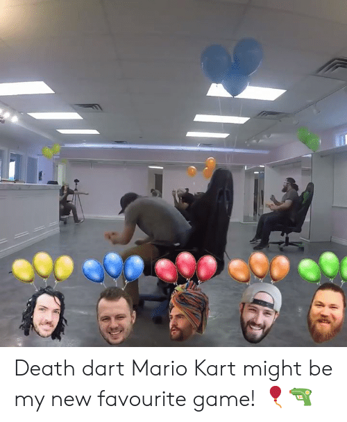 Dank, Mario Kart, and Mario: Death dart Mario Kart might be my new favourite game! 🎈🔫
