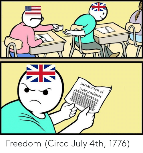 Freedom, July, and Circa: Declaration of  lndependence Freedom (Circa July 4th, 1776)