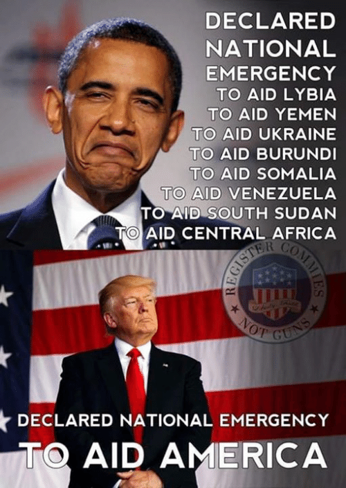 Africa, America, and Memes: DECLARED  NATIONAL  EMERGENCY  TO AID LYBIA  TO AID YEMEN  TO AID UKRAINE  TO AID BURUNDI  TO AID SOMALIA  TO AID VENEZUELA  TO AID SOUTH SUDAN  TO AID CENTRAL AFRICA  DECLARED NATIONAL EMERGENCY  TO AID AMERICA