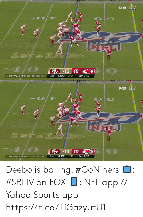 fox: Deebo is balling. #GoNiners  📺: #SBLIV on FOX 📱: NFL app // Yahoo Sports app https://t.co/TiGazyutU1