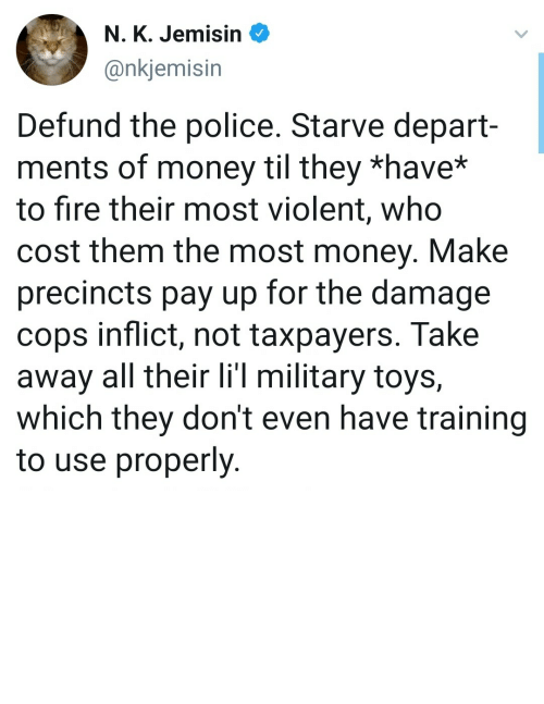 own: Defund them, make them pay out of their own pockets by bluntbutnottoo MORE MEMES