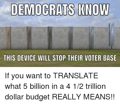 Budget, Translate, and Means: DEMOCRATS KNOW  THIS DEVICE WILL STOP THEIR VOTER BASE