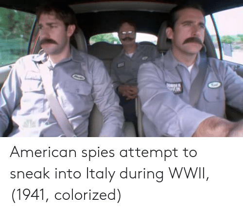 American, Italy, and Wwii: DER American spies attempt to sneak into Italy during WWII, (1941, colorized)
