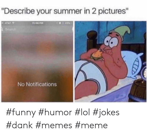 "Dank, Funny, and Lol: ""Describe your summer in 2 pictures'""  Search  No Notifications #funny #humor #lol #jokes #dank #memes #meme"