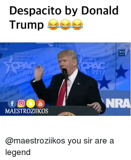 Donald Trump, Trump, and Dank Memes: Despacito by Donald  Trump  ION  WH  GOV  201  MAESTROZIIKOS  Or @maestroziikos you sir are a legend