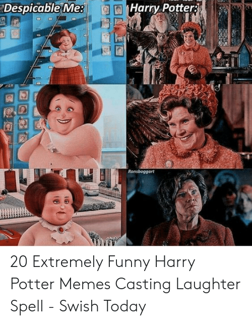 Funny, Harry Potter, and Memes: Despicable Me:  Harry Potter 20 Extremely Funny Harry Potter Memes Casting Laughter Spell - Swish Today