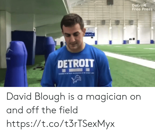 Detroit, Football, and Nfl: Detroit  Free Press  DETROIT David Blough is a magician on and off the field https://t.co/t3rTSexMyx