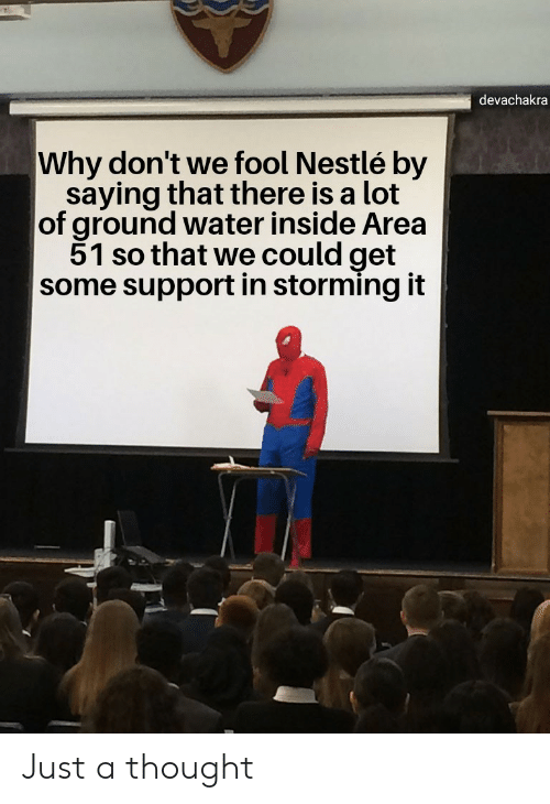 Devachakra Why Don't We Fool Nestlé by Saying That There Is