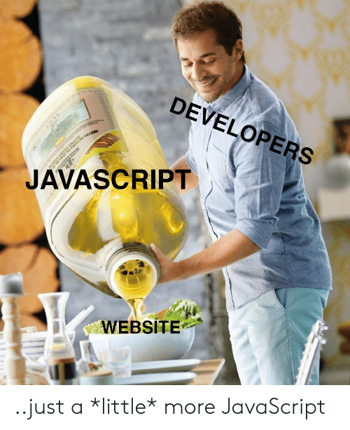 Javascript, Website, and More: DEVELOPERS  JAVASCRIPT  WEBSITE ..just a *little* more JavaScript