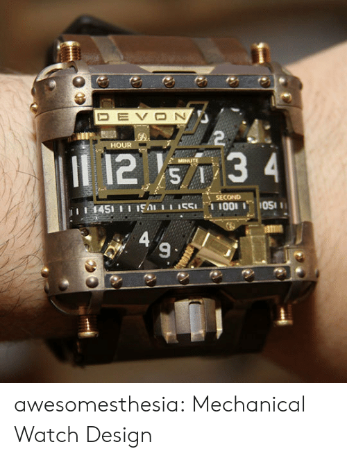 devon: DEVON  2  HOUR  12 s7 3 4  MINUTE  SECOND  1451 11 19A 551I001 OS  A 9  図く awesomesthesia:  Mechanical Watch Design