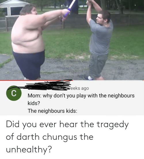 Did You: Did you ever hear the tragedy of darth chungus the unhealthy?