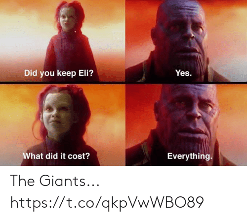 Football, Nfl, and Sports: Did you keep Eli?  What did it cost?  Everything. The Giants... https://t.co/qkpVwWBO89