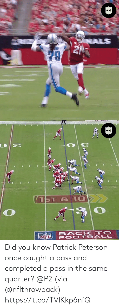 Did You: Did you know Patrick Peterson once caught a pass and completed a pass in the same quarter? @P2 (via @nflthrowback) https://t.co/TVIKkp6nfQ