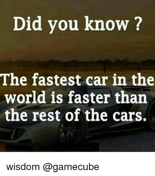 Did You Know The Fastest Car In The World Is Faster Than The Rest