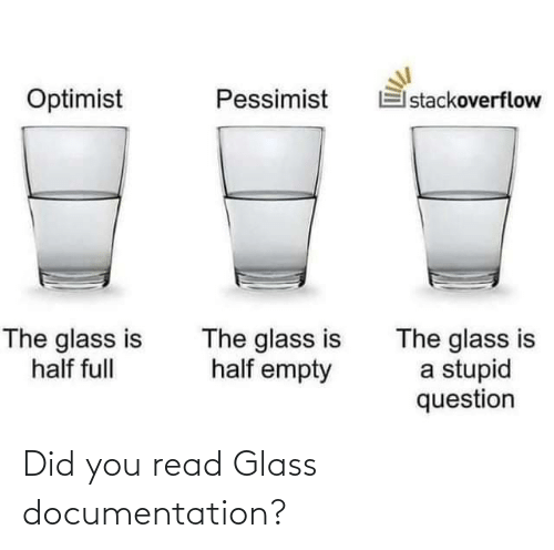 Did You: Did you read Glass documentation?