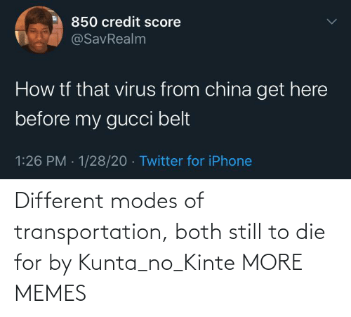 Both: Different modes of transportation, both still to die for by Kunta_no_Kinte MORE MEMES