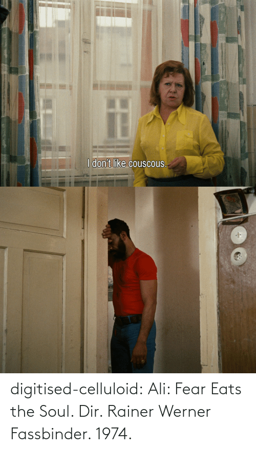 Fear: digitised-celluloid:  Ali: Fear Eats the Soul. Dir. Rainer Werner Fassbinder. 1974.