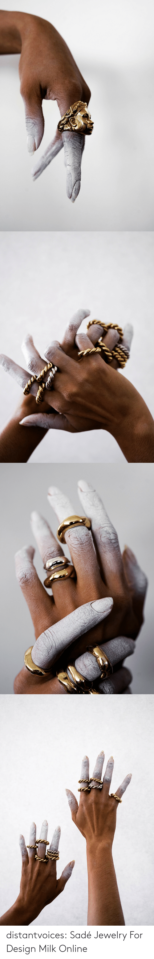 Jewelry: distantvoices:    Sadé Jewelry For Design Milk Online