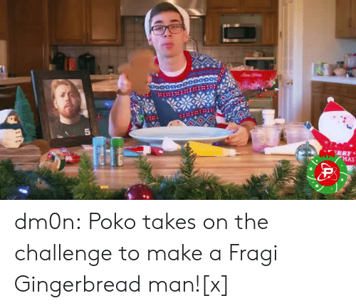 Tumblr, Twitter, and Blog: dm0n:  Poko takes on the challenge to make a Fragi Gingerbread man![x]