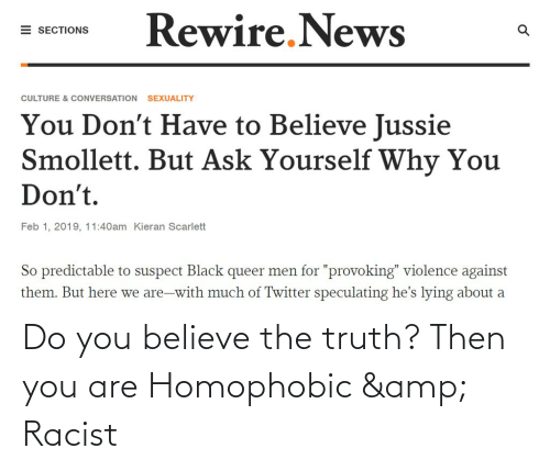 Conservative Memes: Do you believe the truth? Then you are Homophobic & Racist