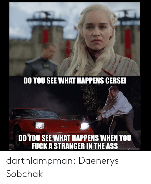 Do You See: DO YOU SEE WHAT HAPPENS CERSE  DO YOU SEE WHAT HAPPENS WHEN YOU  FUCK A STRANGER IN THE ASS darthlampman:  Daenerys Sobchak