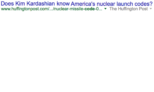 nuclear-launch-codes: Does Kim Kardashian know America's nuclear launch codes?  www.huffingtonpost.com//nuclear-missile-code-0... 7 The Huffington Post